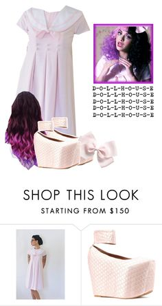 """""""Melanie Martinez ( DollHouse) Inspired Outfit"""" by halaalmuslimah12 ❤ liked on Polyvore featuring Jeffrey Campbell and Dollhouse"""
