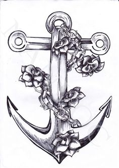 Feminine anchor tattoo design by Marita Butcher. Description from pinterest.com. I searched for this on bing.com/images