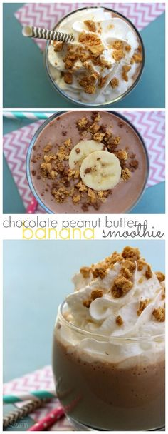 Chocolate Peanut Butter Banana Smoothie #MullerMoment #ad