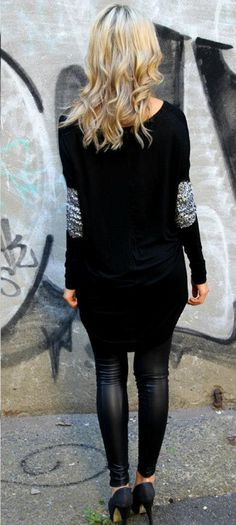 Not Your Girlfriend Sequin Top | Black | Madison Square Clothing » Hex Effex Clothing