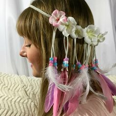Get ready for festival season with 20% off your Etsy order- just use the code FESTY at checkout!   https://www.etsy.com/listing/233485096/feather-crownflower-crown-pastel-pony