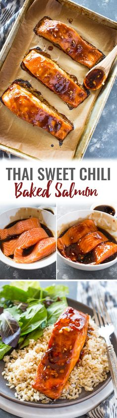 Thai Garlic Soy Sweet Chili Salmon
