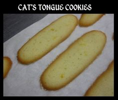 Cats  Tongue Cookies- Cat Tongue Cookies are not cake made of the cat's tongue ... cat's tongue cookies are called this because its shape is similar to the shape of a cat's tongue.   This recipe is a basic cookie that can be turned into gorgeous fancy treats by filling with jam like a sandwich or chocolate or dipping into chocolate...or both. The possibilities are endless.