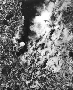 B-24s over Kiel during a raid in May 1943 -