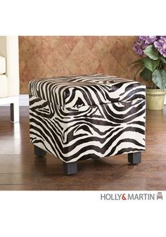 Zebra ottoman, we just saw one last night and i wanted it so bad! Love it!
