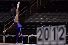 2012 Olympic Trials: Gabby Douglas warms up on the balance beam.