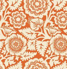 Joel Dewberry Fabric / HEIRLOOM / BLOCKPRINT BLOSSOM in Amber Cotton Quilt Fashion Fabric 1 yard. $8.99, via Etsy.