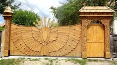 Garden Arches, Garden Windows, Organic Architecture, Futuristic Architecture, Fence Gate, Fences, Wooden Gates, Top Destinations, Wood Carving