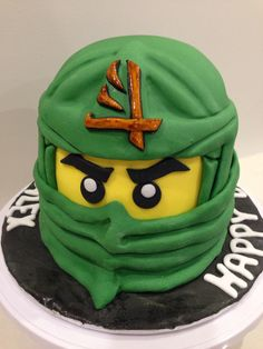 I made this ninjago cake for my boy 6 years old birthday party.
