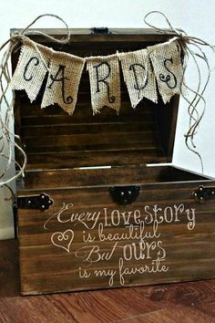 DIY Card box for weddings! (This site has many, many, DIY Wedding ...