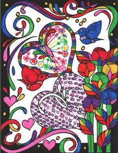 Gwen E age 9 (Under 12 division) from Heart to Heart Stained Glass Coloring Book: http://store.doverpublications.com/0486486486.html