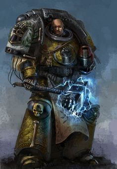 40k - Valrak - Imperial Fist by ~1mpact on deviantART - love the fist on the thunder hammer
