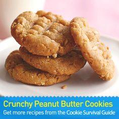 Crunchy Peanut Butter Cookies: an easy dessert recipe for peanut butter lovers