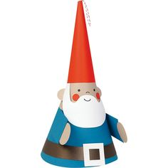 """There's GNOME place like home for the holidays~whimsical gnome is easy to make and looks so festive sitting by a holiday tree, used as a tree topper, or as a centerpiece at the kids' holiday table. Kit makes one jolly gnome, measuring approximately 18"""" x 8""""."""