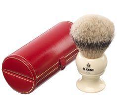 Kent Traditional Medium Sized Pure Silver Tipped Badger Brush w/Ivory Color Base - Mens Shaving Brush, Badger Shaving Brush, Shaving & Grooming, Wet Shaving, Grooming Kit, Shaving Cream, Kent Brushes, Shopping, Shaving