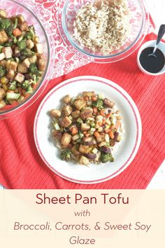 Sheet Pan Tofu with Broccoli, Carrots, & Sweet Soy Glaze is a quick, easy, and delicious weeknight dinner the whole family will enjoy. Includes a touch of sweetness without all the calories of sugar, thanks to Splenda Naturals Stevia Sweetener, Granulated! (AD) #sheetpandinner #sheetpanmeals #dinner #dinnerrecipes #veganrecipes #vegetarianrecipes #mealprep #backtoschool #splenda #splendanaturals