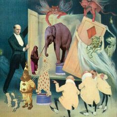 Life's a circus collage by Willeke Grinwis-Hekking
