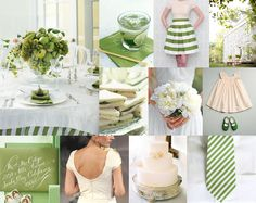 LOVE this shade of green, especially when its paired up with cream and in a bold stripe.