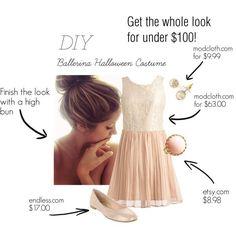 DIY Tutorial: DIY Women Halloween Costumes  / DIY Ballerina Halloween Costume - Bead&Cord