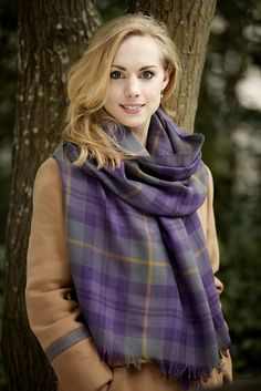 100% fine wool stole produced by Lochcarron of Scotland. Scottish Ballet official tartan. Photograph by Graham Wylie.