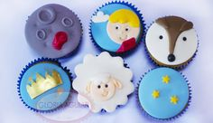 cupcake Pequeno Príncipe The Little Prince Theme, Little Prince Party, Prince Birthday Theme, Leo Birthday, Prince Cake, Cookie Pops, Cute Cupcakes, Cupcake Party, 1st Birthdays