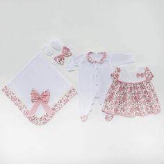 Saída Maternidade Vestido Pituquinha Rosa P  05fc6da1f97
