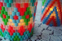 woven perler bead tea light covers | Flickr - Photo Sharing!