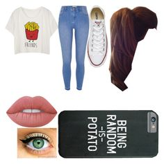 """""""Untitled #18"""" by chloe-335 ❤ liked on Polyvore featuring River Island, Converse and Lime Crime"""