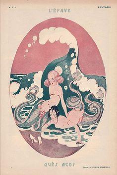 """"""" Ilustraciones de sirenas (1918/1921) de Gerda Wegener """""""