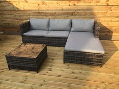 Kingfisher RSET1 KD Rattan Sofa Set - Grey (3-Piece) ** Be sure to check out this helpful article. #GardenFurniture and Accessories