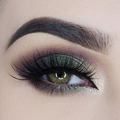 Forest green smokey eye #eyes #eye #makeup