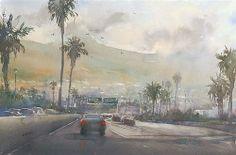 """Santa Barbara, California VII"" - Original Fine Art for Sale - © Keiko Tanabe"