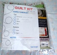 Make your own quilt kit -  printable