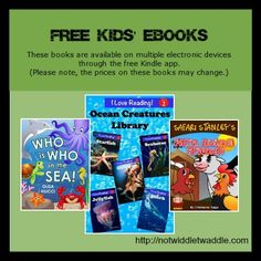 Today's free kids' eBook list has easy readers, books for toddlers, and a set of YA novels. Remember that you can download these books even without a Kindle through the Kindle app. Download them while they are still free!