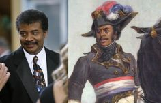 #UNCANNY Dr. Neil deGrasse Tyson looks a lot like General Thomas Alexandre Davy de la Pailleterie, the father of Alexandre Dumas Pére, the author of 'The Musketeers' and 'The Count of Monte Cristo'.