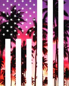 American Flag California Palm Trees Art Print by blondedesignstudio Iphone Lockscreen Wallpaper, Cellphone Wallpaper, Iphone Wallpapers, American Flag Wallpaper Iphone, California Palm Trees, California Flag, Pink Camo Wallpaper, Pretty Phone Backgrounds, Palm Tree Art