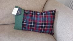 This item is unavailable Harris Tweed, My Etsy Shop, Cushions, Throw Pillows, Crafty, Trending Outfits, Handmade Gifts, Check, Shopping