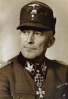 Matthias Kleinheisterkamp was an SS Obergruppenführer (General). During World War II, Kleinheisterkamp commanded the 3. SS-Division Totenkopf, 6. SS-Gebirgs-Division Nord, 2. SS-Division Das Reich, III.(germanische) SS-Panzerkorps, VII. SS-Panzerkops, IV. SS-Panzerkops, XII. SS-Armeekorps and the XI. SS-Armeekorps. He was also a winner of the Knight's Cross of the Iron Cross with Oak Leaves. In April 1945, he committed suicide while a POW in Russian hands.