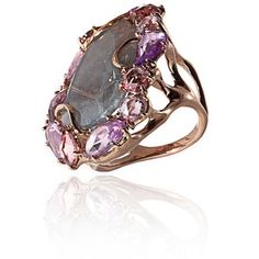 Federica Rettore: Imperial Sliced Iolite and Pink Sapphire Ring