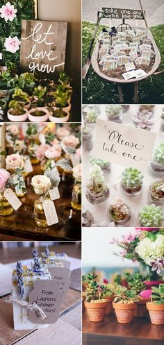 garden themed unique wedding favor ideas 2017
