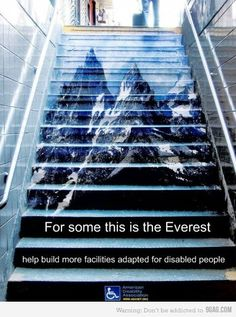 Help build more facilities adapted for disable people