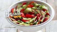Ensalada de fresa y pepino