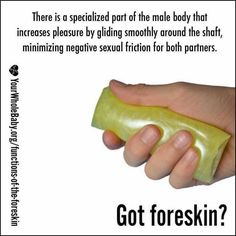 Having sex with a foreskin