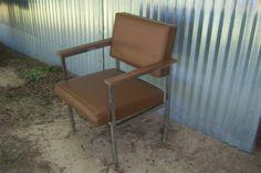 Vintage Brown Plastic Steel Steelcase by #RockySpringsVintage  #etsy #teamvam