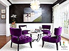 ديكورات غرف جلوس مودرن باللون البنفسجي Purple Accent Chair Living Room Purple Living Room Interior Design Living Room
