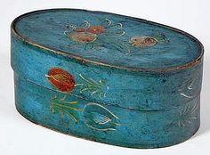 BRIDE'S BOX. American or European, 19th century.