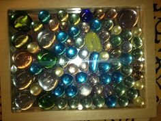 glass gems on mirrors