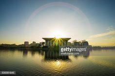Stock Photo : Sunrise over Tuanku Mizan Zainal Abidin Mosque.