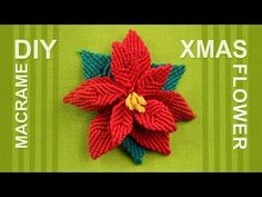 How to make Christmas Flower (Poinsettia) - YouTube