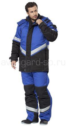"Костюм ""Каскад"" / Костюмы рабочие / Зимняя спецодежда Insulated Coveralls, Snow Suit, Black Trim, Rain Jacket, Windbreaker, Winter Jackets, Menswear"